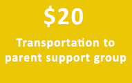 $20 Transportation to parent support group