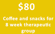 Program support for an 8 week therapeutic group